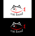 set of sing or symbol of cat food isolated vector image vector image
