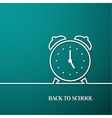 Back to school card with paper alarm clock vector image vector image