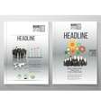 Business templates brochure flyer or vector image