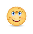 Cartoon cheese vector image vector image