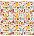 autumn items seamless pattern vector image