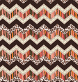 brown zigzag seamless vector image