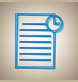 check mark sign sky blue vector image