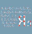 cyrillic alphabet concept font design modern art vector image