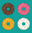 donuts set icon modern flat vector image