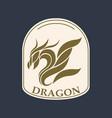 dragon logo icon design vector image