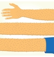 Long hand isolated vector image
