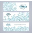 Set of banners Ocean summer decorative background vector image