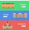 Set of School College and University Banners vector image