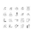 symbol of higiene black thin line icon set vector image