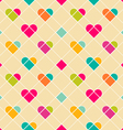 Valentine heart pattern vector image