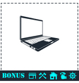 Laptop icon flat vector image