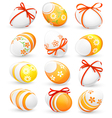 Set of Easter eggs vector image vector image