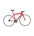 red bicycle sport transport equipment vector image