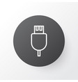 usb cable icon symbol premium quality isolated vector image