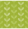 Abstract textile green vines leaves seamless vector image vector image