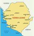 Republic of Sierra Leone - map vector image