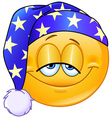 good night emoticon vector image