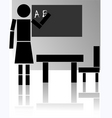 teaching vector image vector image