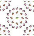 bedding with a pattern of flowering vector image