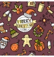 Christmas colored seamless pattern vector image