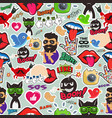 graffiti seamless texture with social media signs vector image