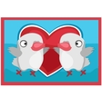 Pair of lovers birds picture on the wall vector image