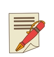 pen with contract icon vector image