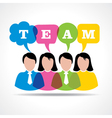 people teamwork concept with message bubble vector image