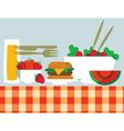 Picnic food vector image