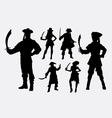 pirates male and female silhouette vector image