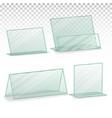 plastic holder empty plastic table holder vector image