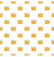 Royal crown pattern seamless vector image