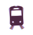 train sign colorful icon shaked with vector image