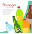 Beverages Banner Set of Drinks in Bottles vector image