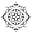 Floral ornament arabesque hand drawn sketch for vector image vector image