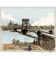 Vintage Lions Bridge vector image