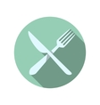 Fork and Knife Icons vector image