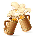 beer mugs vector image vector image