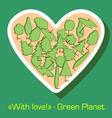 Postcard environmental protection vector image