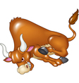 Angry bull is attacking isolated vector image vector image