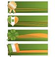 irish banners vector image