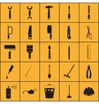 Simple set of tools related icons vector image
