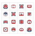 Set color icons of meter vector image