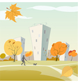 Autumn city vector image