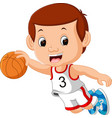 boys playing basketball sport vector image