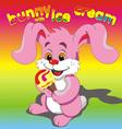 Bunny ice cream pink vector image