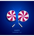 circle lollipop on blue background Eps10 vector image