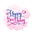 Happy Birthday design concept Hand vector image