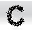 Letter C formed by inkblots vector image